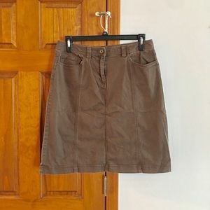 Talbots Stretchy Brown Pencil Skirt Size 14